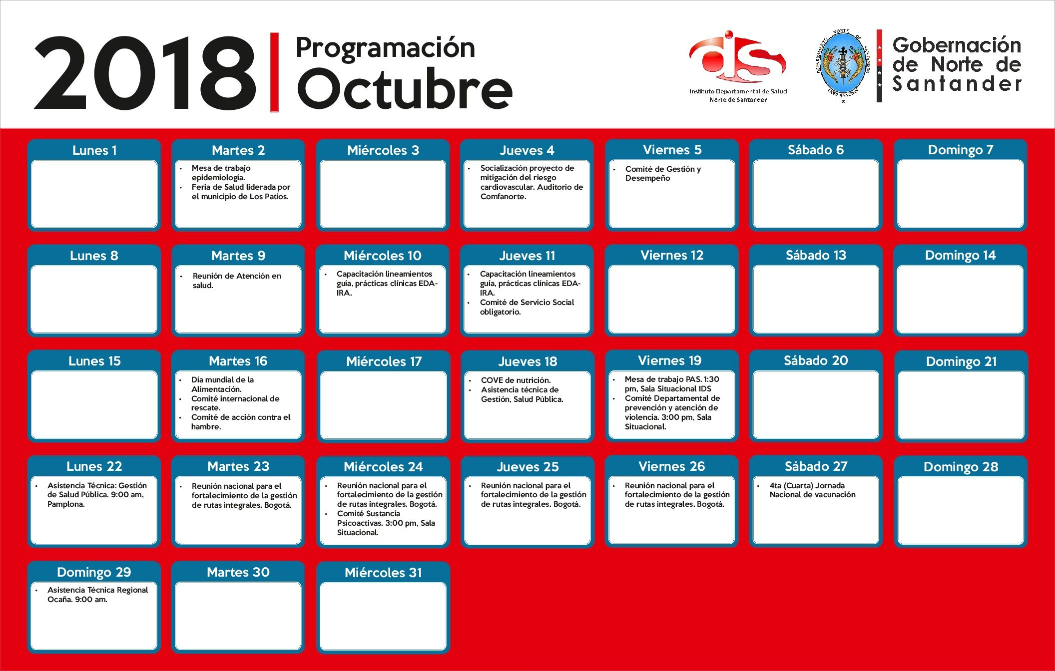 Photo of Calendario de actividades